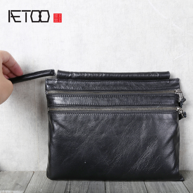 AETOO Cowhide leather bag single shoulder oblique cross bag leather handbagAETOO Cowhide leather bag single shoulder oblique cross bag leather handbag