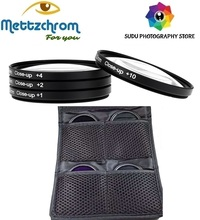 Macro filter Kit close-up filter set +1 +2 +4 +10 39mm 49mm 52mm 55mm 58mm 62mm67mm close up macro filter Kit