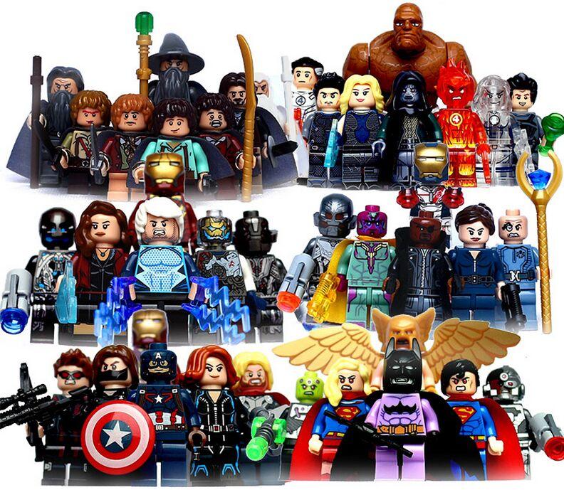 marvel super heroes batman vs superman iron man deadpool building blocks toys for kids figure compatible batman superman iron man