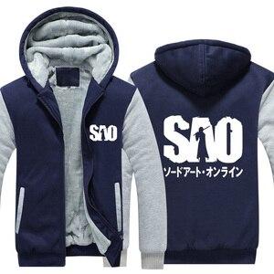 Image 5 - Anime zagęścić płaszcz z kapturem Sword Art Online SAO Cosplay kurtka bluzy ładny Top odzież mężczyźni kobiety