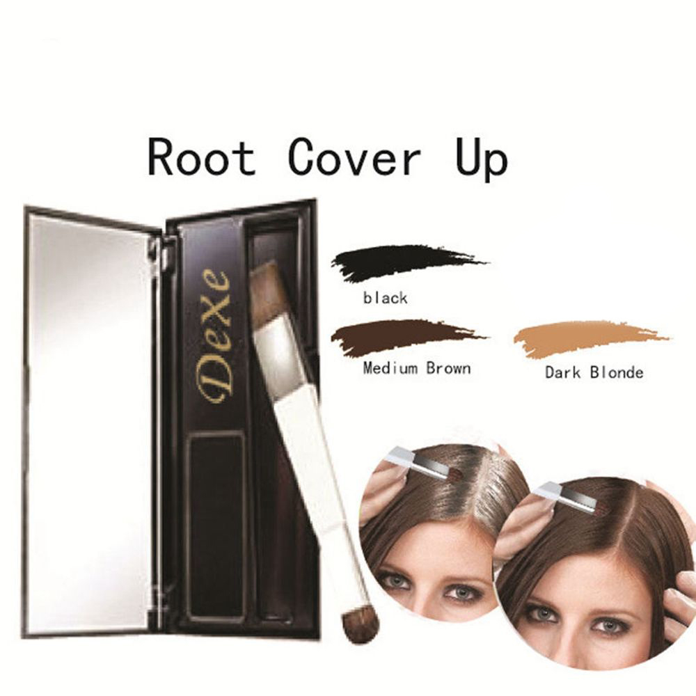 US $9.16 23% OFF Brand Hair Coloring Products Cover Gray Root Cover Up  Powder Black Hair Color Brush Dye Temporary Hair Dye Coloring Cream-in Hair  ...