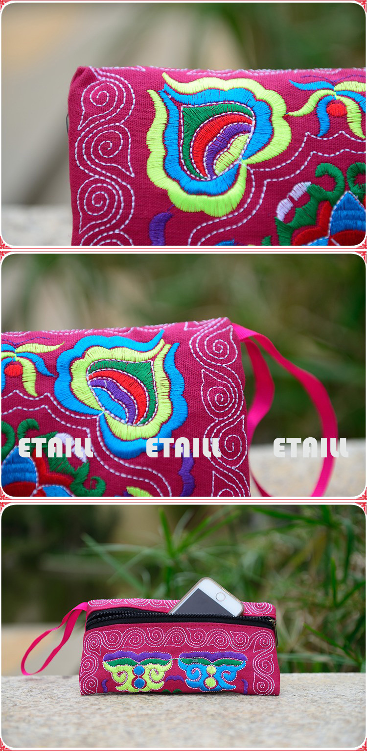 embroidery bag clutch