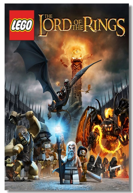 Custom Canvas Wall Decor Lego Lord Of The Rings Poster The Hobbit