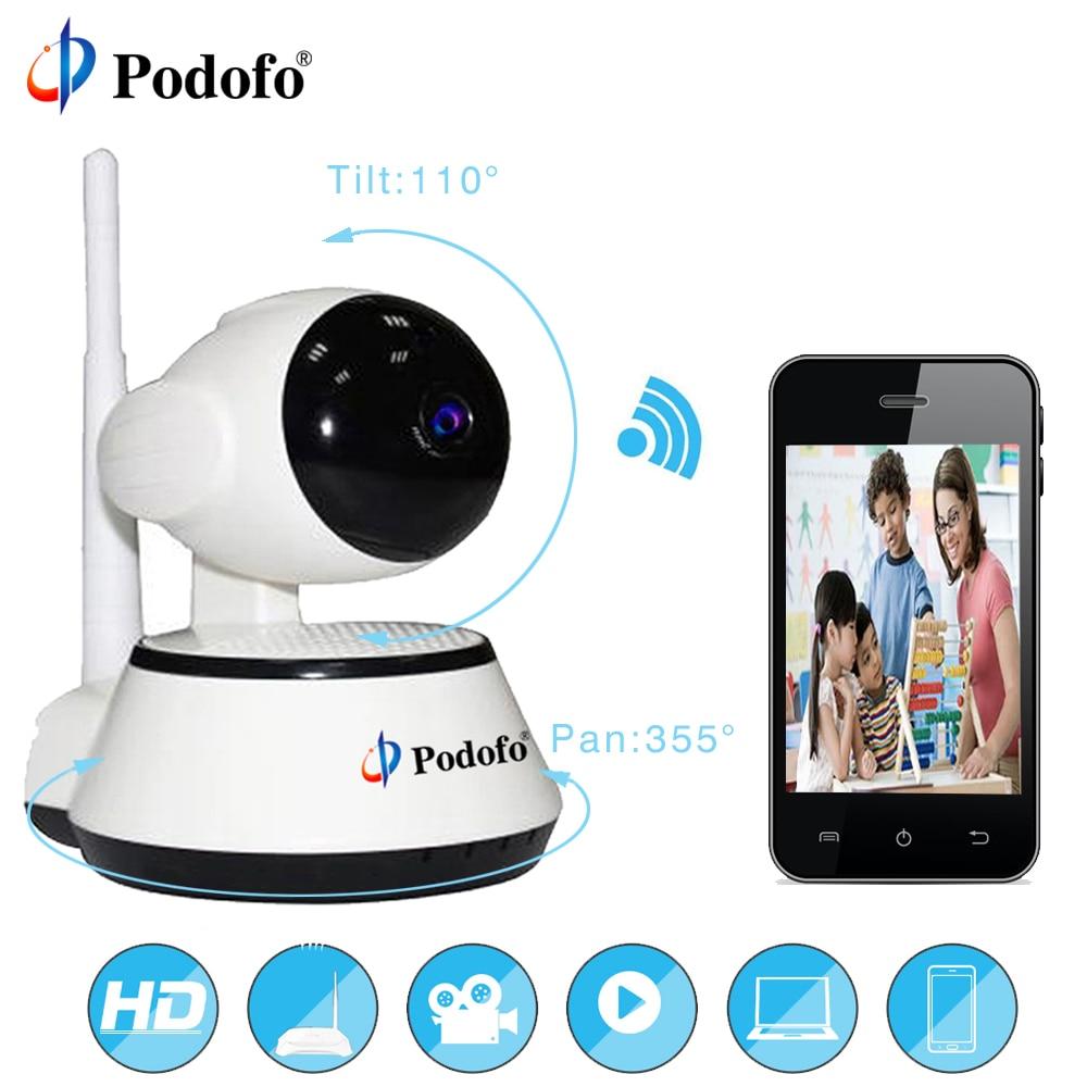 цена Podofo Home Security IP Camera Wireless Smart WiFi Camera WI-FI Audio Record Surveillance Baby Monitor HD Mini CCTV Camera FH2A