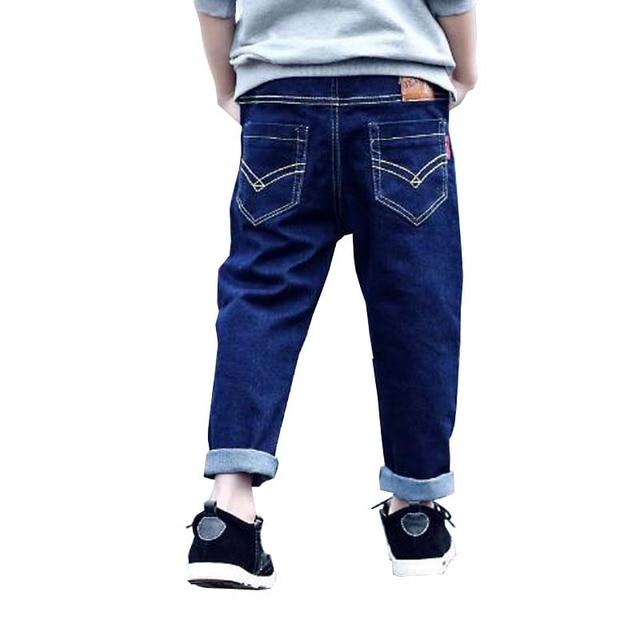 Дети йенс весна осень детей и пиджаки брюки дети случайных брюки ребенок джинсы мальчик брюки случайные брюки для 3-13 мальчики верхней одежды