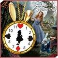 El nuevo Alice en Alice collar reloj del conejo precioso goteo Alice reloj collar