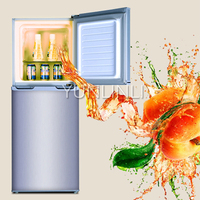 Household Double Door Refrigerator Top freezer Type Refrigerator 137L Domestic Fridge BCD 137C