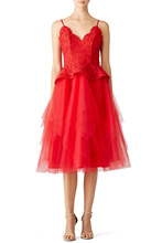 Sexy Cocktail Dress Spaghetti Straps Lace Top Tulle Skirt Red Homecoming Dress Short Knee Length Cheap 8th Grade Formal Dresses