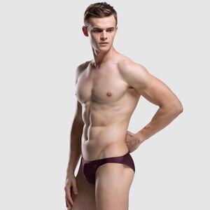 Image 4 - 2019 sexy Men Underwear High Quality Mens Briefs Nylon Spandex Famous Brands Solid Underwears Men Funny Underwear