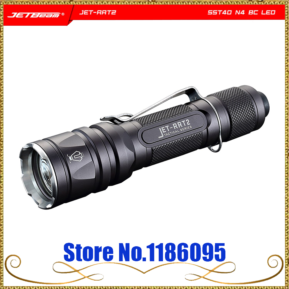 JET-RRT2 RRT2 Tactical Flashlight Waterproof Aluminum Alloy SST40 N4 BC 950LM 4 Stalls Rapid Response Tactical LED Light Torch oumily aircraft grade aluminum alloy tactical defense writing pen w white led light rose red