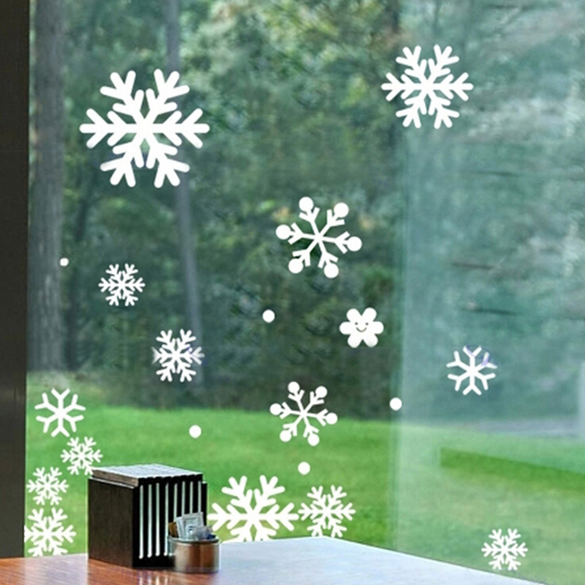 Snow flakes window stickers winter snowflake wall stickers new year christmas window wall decals xmas christmas