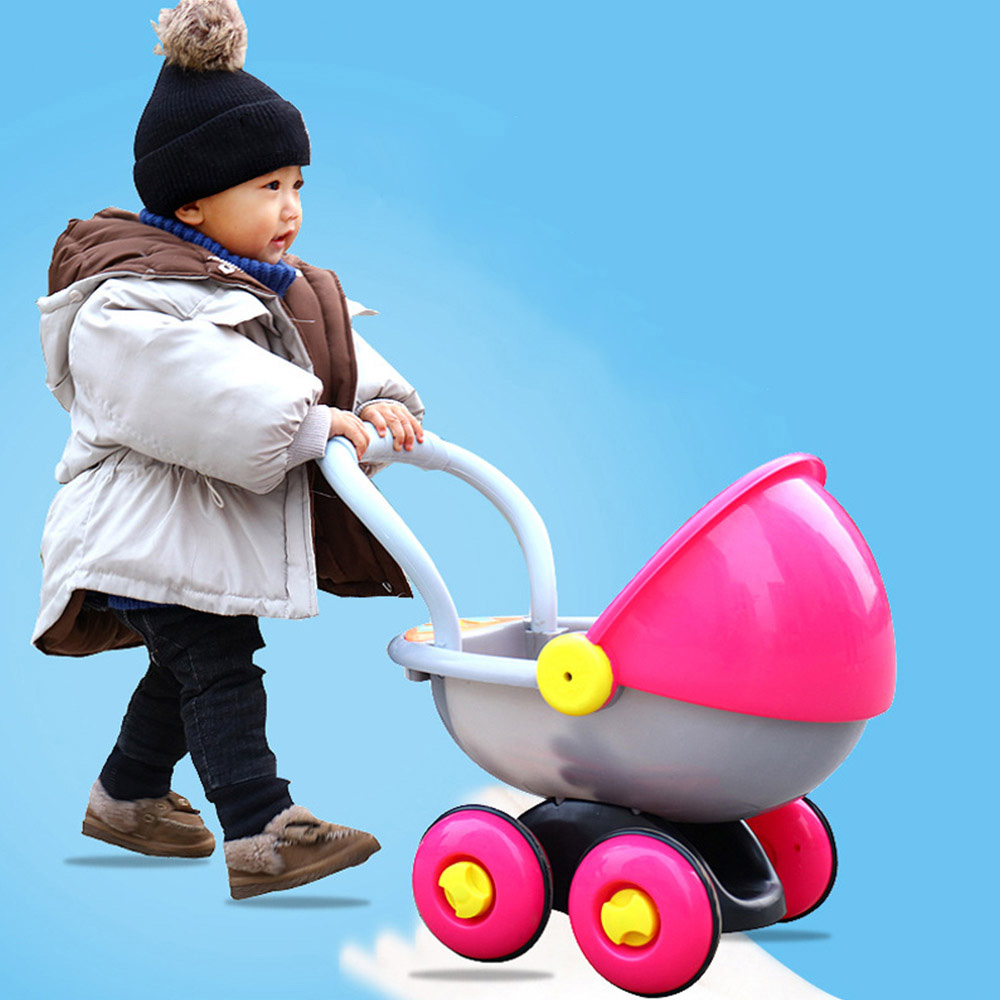 Baby Walker Toy Stroller Anti-rollover Learning Standing Walking Baby Trolley Multi-function With Music Early Education Toy