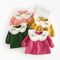 Baby Girls Shirt 2018 New Spring Autumn Toddler Infantil Girl Long Sleeve Blouses Kids Cotton Embroidery