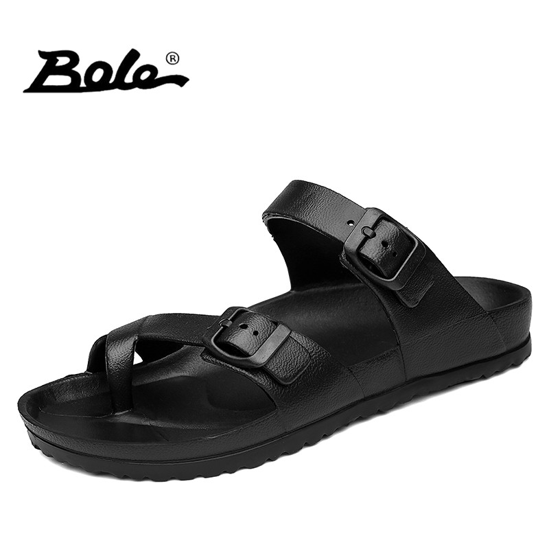 cb0f19575 Comprar BOLE Sandálias Unissex Tamanho Grande 36 45 Casal Sandálias de  Verão Homens Sapatos Flats Sandália Praia Peso Leve para Os Homens sapato  de Design ...