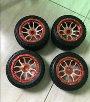 baja 5b cnc alloy rim and one road wheels with nut