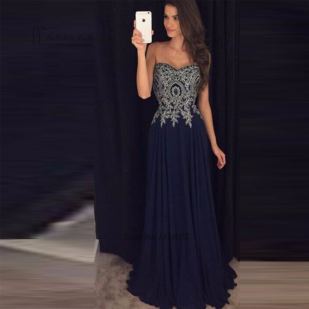 navy blue prom dresses 2017 cheap silver lace vestidos do. Black Bedroom Furniture Sets. Home Design Ideas