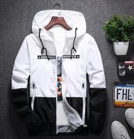 2018 anorak jacket windbreaker men jaqueta masculina zipper patchwork waterproof jackets streetwear autumn bomber jacket 4XL