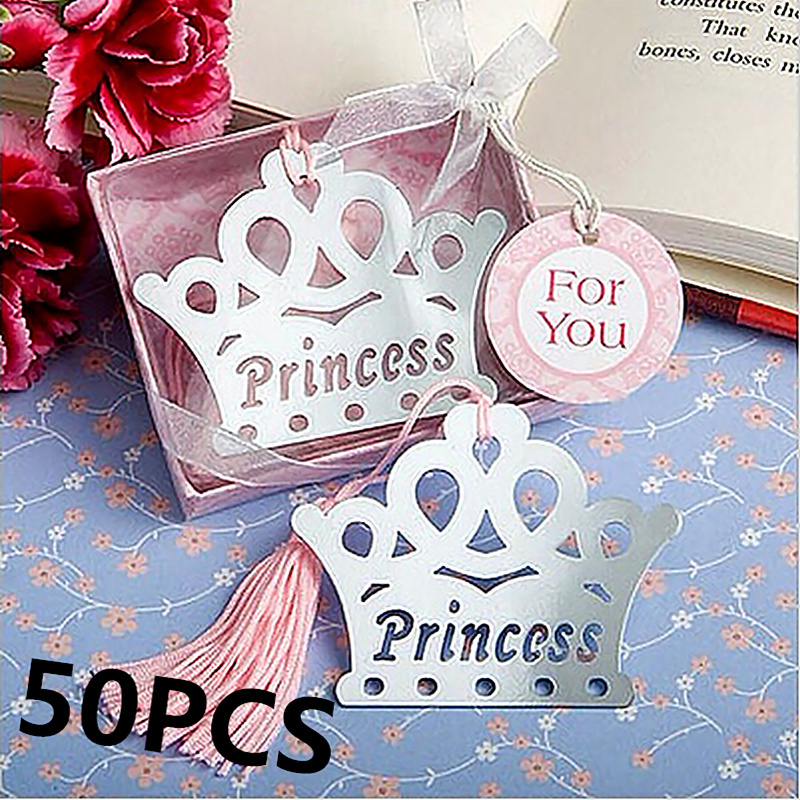 50PCS Exquisite Princess Crown Bookmarks Regalos De Boda Para Los Invitados Baby  Shower Souvenirs For Girl Gifts Wedding Favors In Party Favors From Home ...