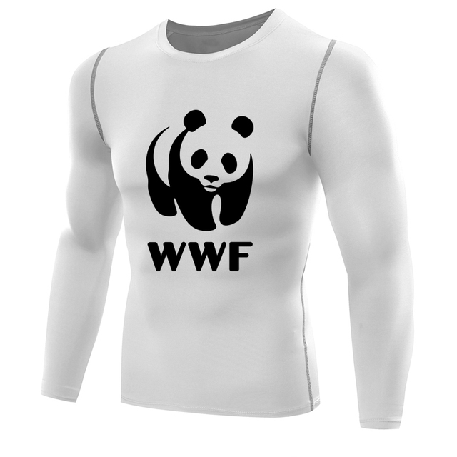 635b5d2a83 Camisa para homens camisa de manga longa de compressão de wrestling wwf wwf  panda camiseta dry