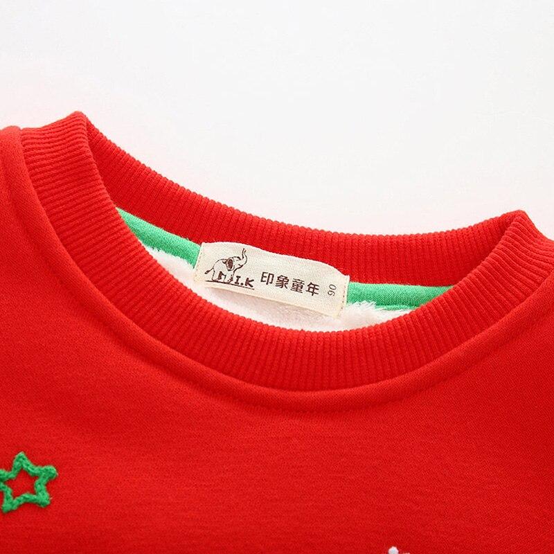 Baby boys new winter warm velvet plus hoodies Children casual printed sweatshirts kids cotton top sportwear WY25067 Christmas