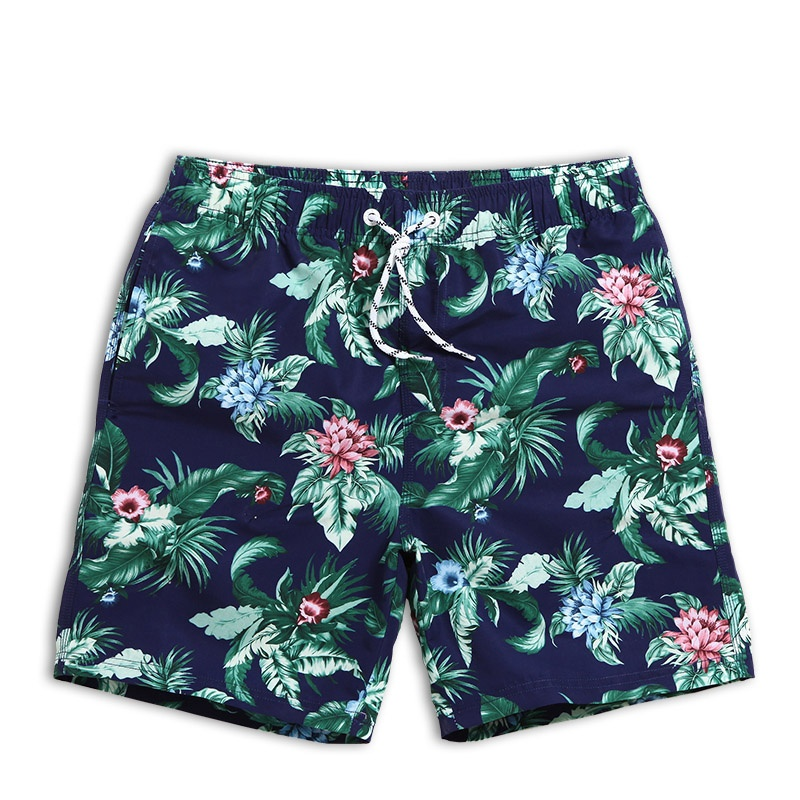 Men's Tropical Quick Dry   Board     shorts   Plus Size Bathing Suits Volley Beach   Shorts   Sea Men   Shorts   Swim   Shorts   with Back Pocket