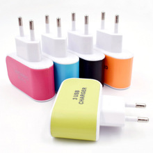 3 USB Quick charge EU US Plug For Mobile Phone Fast charger