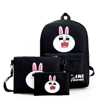 New women's Canvas Backpack Quality Bag Korean fashion casual cute picture sling bag tide students travel backpack Campus