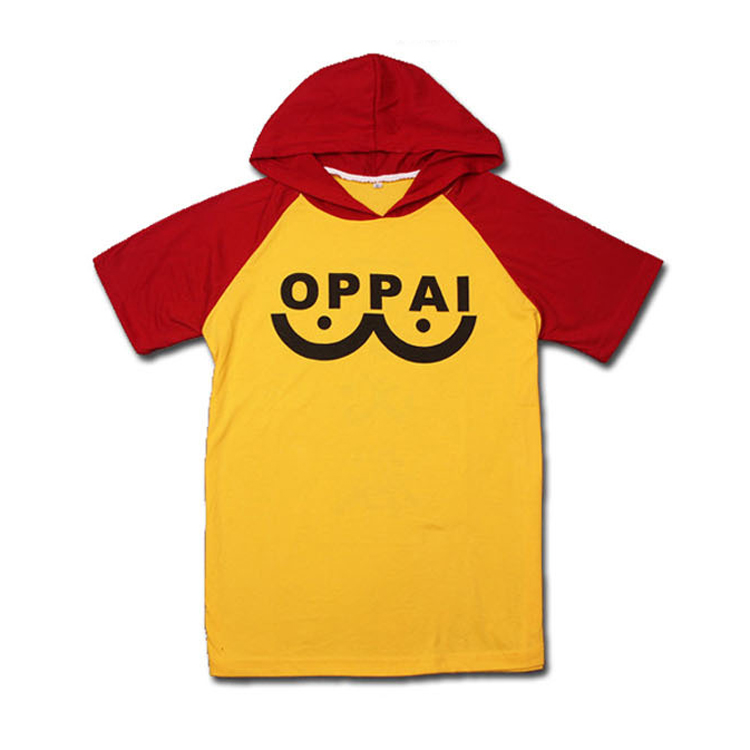 Anime One Punch Man Short Sleeve Hoodies Saitama Sensei Oppai Men Women Cosplay Costume Harajuku Sweatshirts Casual T-shirt Tops