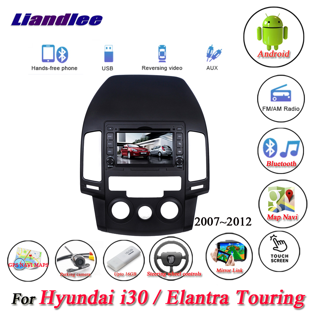 Liandlee pour Hyundai i30/Elantra Touring manuel AC stéréo Radio caméra Wifi lecteur DVD GPS carte Navi Navigation système Android