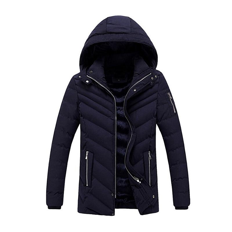 Winter Thicken Warm Jacket Men Stand Collar Parka Coats Men Casual Cotton Solid Jackets Coat Jaqueta Masculino Plus Size XXXL