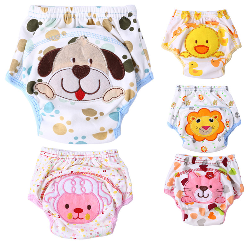 1pc Baby Waterproof Reusable Diapers Cotton Children Cloth Diaper Reusable Nappies Training Pants Infant Washable Diapers