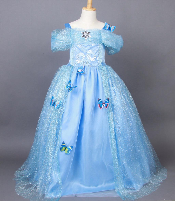 cinderella teenager girl clothes communion dresses cosplay halloween cinderela costume kids princess hallowen kids