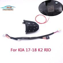 chuangmu Steering Wheel Button For KIA K2 RIO 2017 2018 RIO X LINE Buttons Bluetooth Phone Cruise Control Volume96720-H8610 84250 0n160 buttons bluetooth phone steering wheel audio control button for toyota land cruiser prad