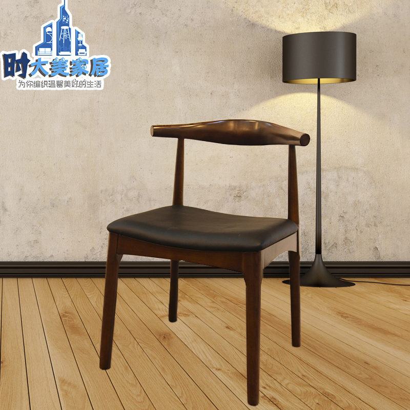 nordic ash wood dining chair hotel horn designer chairs minimalist home ch177 natural side chair walnut ash