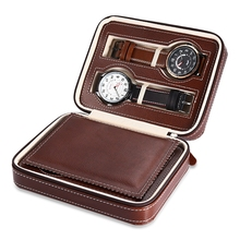 4 Grids Watch box Travel Watch Storage Case Organizer caixa para relogio