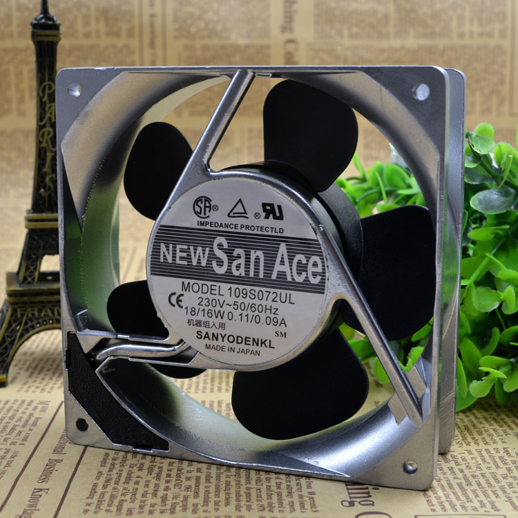 Free Delivery.109 s072ul  18/16 220 v w 120 * 38 mm aluminum frame ac fan free delivery original authentic 120 120 38mm 200v 14 12w cn60b3 fan