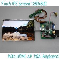 IPS 7 Inch 1280 800 LCD With HDMI VGA AV USB Screen Display Monitor Module
