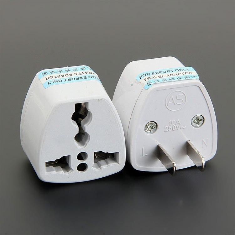 Haute qualité nouveau 100 Pcs/Lot universel EU US AU aux états unis AC voyage prise d'alimentation chargeur adaptateur convertisseur adaptateurs de voyage-in Prise électrique from Electronique    1