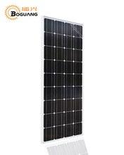 Boguang 100w Solar Panel Glass PV Module Kit Monocrystalline Cell 18v 1175*530*25mm MC4 12V Battery RV Light Roof Power Charger