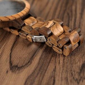Image 3 - BOBO BIRD Wood Watch Mens Walnut Ebony Wooden Strap Quartz Wristwatch Male erkek kol saati Miyota gift relogio masculino