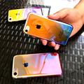 Ультра Тонкий Прозрачный Постепенное Изменение Градиент Ombre Корпус Для iPhone 6 7 Plus Сотовый Телефон Задняя Крышка