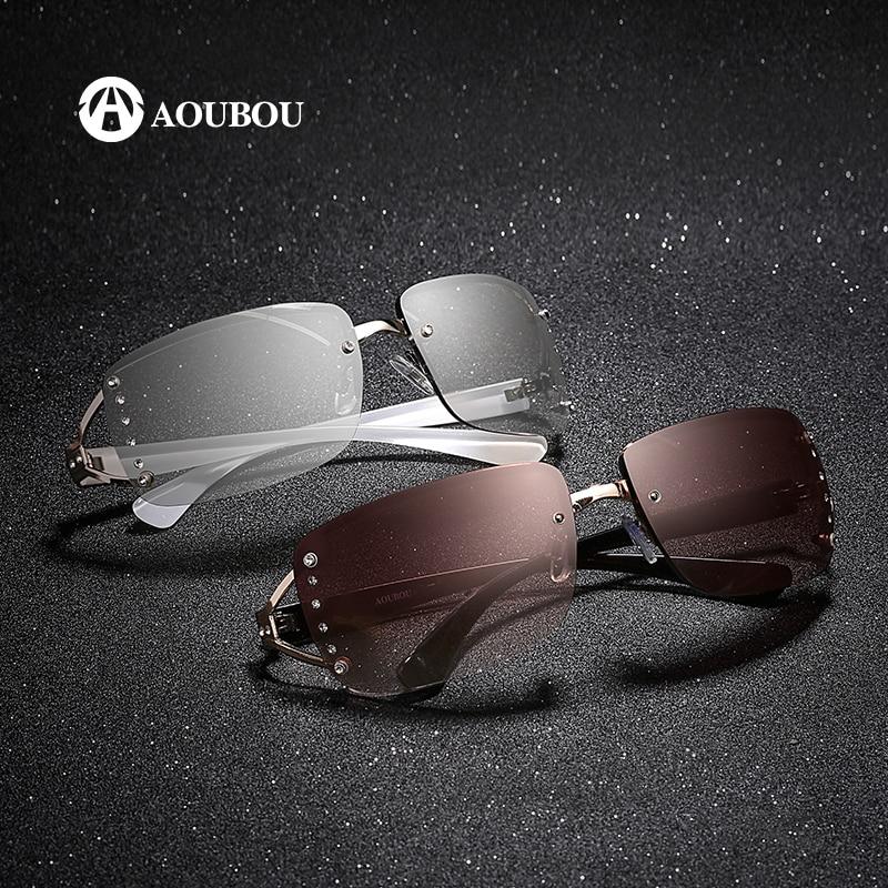 AOUBOU 2019 Vintage Rimless Sunglasses Women Luxury