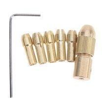 Keyless Drill Bit Chucks Adapter Clamp Socket Wrench HSS DIY Woodworking Mini Electric Drill Chucks Adapter