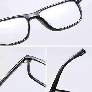Image 4 - ברור שקוף מחשב משקפיים גברים מסגרת אנטי כחול אור חסימת משקפיים מסגרת TR90 קוצר ראייה אופטית משקפיים תואר