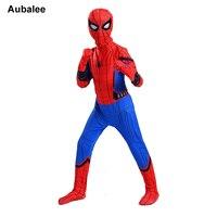 Spiderman Homecoming Costume For Kids Halloween New Boys Red Blue Spider Man Suit Marvel Comics Superhero