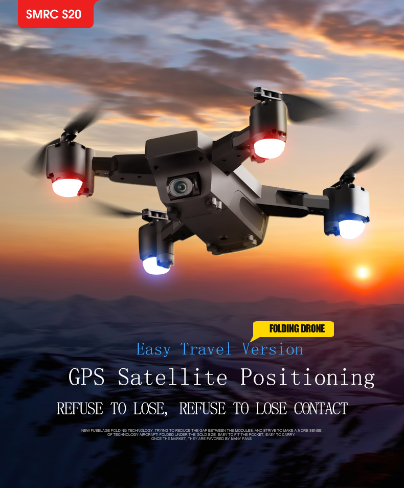 GPS Drone Follow Me FPV Helicopter With 1080P HD 5MP Wide-Angle Camera Auto Return Altitude Hold Headless Mode Dron Professional 10