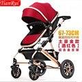 Carrinho de bebê dobrável two-way amortecedores nas quatro rodas carrinho de bebê