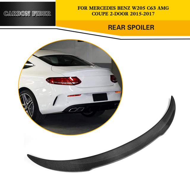 Carbon Fiber Racing Trunk Spoiler Wing Lip For Mercedes Benz W205 C63 AMG  Coupe 2
