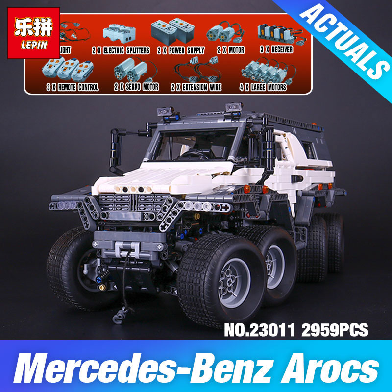 2016 New LEPIN 23011 2959 pcs Technic Series Off-road vehicle Model Building Kits Block Educational Bricks Compatible Toys Gift