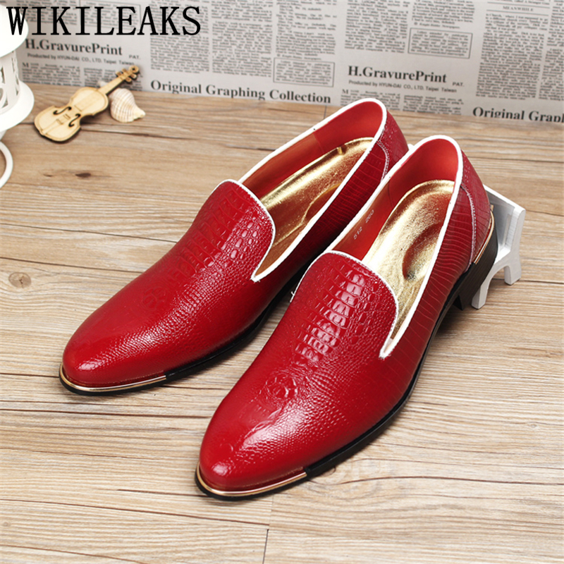 2018 office loafers men shoes formal mens dress shoes leather crocodile italian brand luxury designer shoes mens oxfords wedding 2016 luxury mens goodyear welted oxfords shoes vintage boss brogue shoes italian mens dress shoes elegant mens gents shoes derby